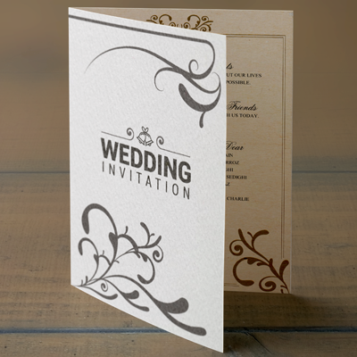 Personalised folded cards  with Envelopes