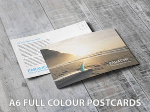 Full Colour A6 Postcards.