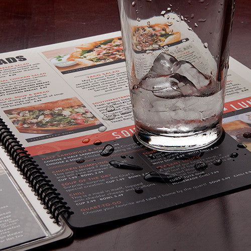 Water and Tear Proof Card Menu's Etc