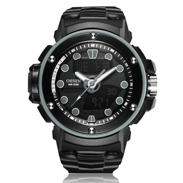 'COLONEL ASSAULT' Dual Display Men's Watch