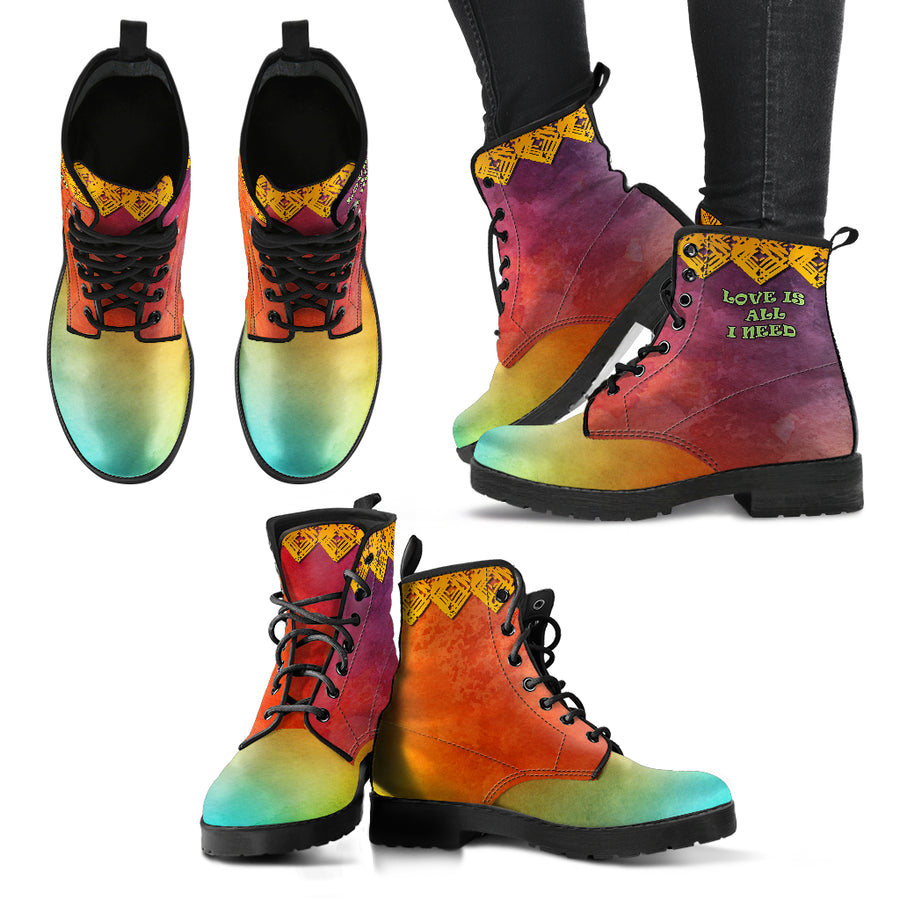 INDIAN SPIRIT WOMEN'S BOOTS LOVE IS ALL I NEED