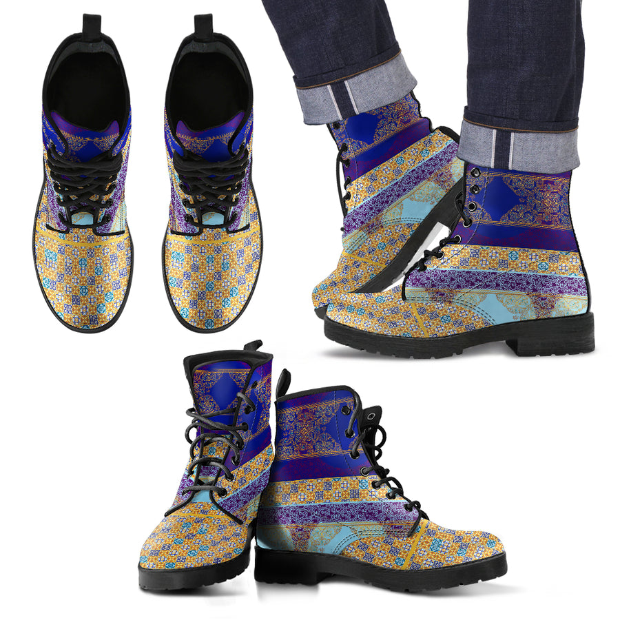 interesting colored mens boots