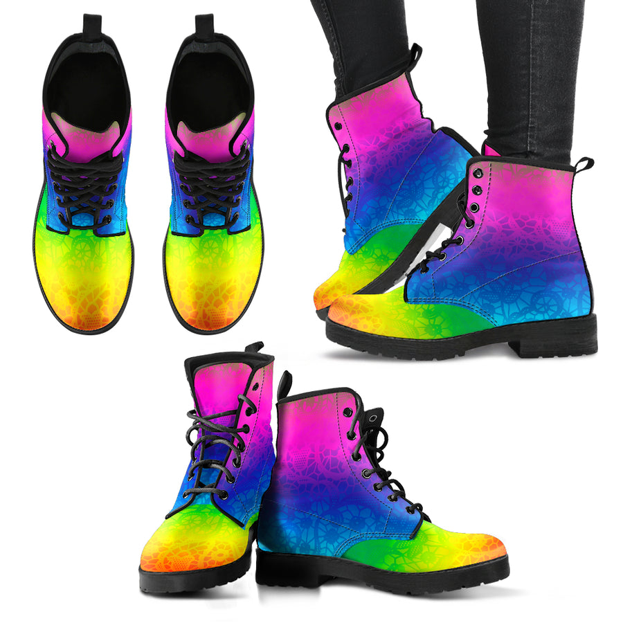boots with positive optimistic colors for festivals