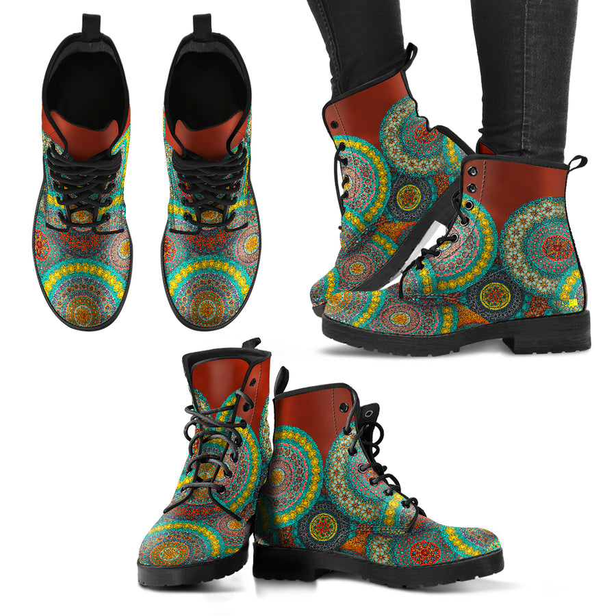 colorful beautiful women's boots