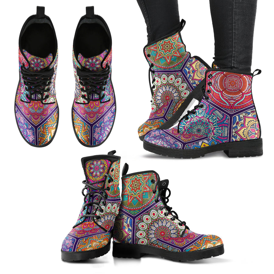 peace amazing colorful boots for a better state of mind