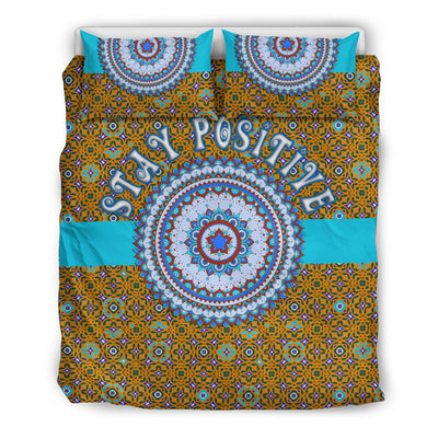 colorful and positive bedding set