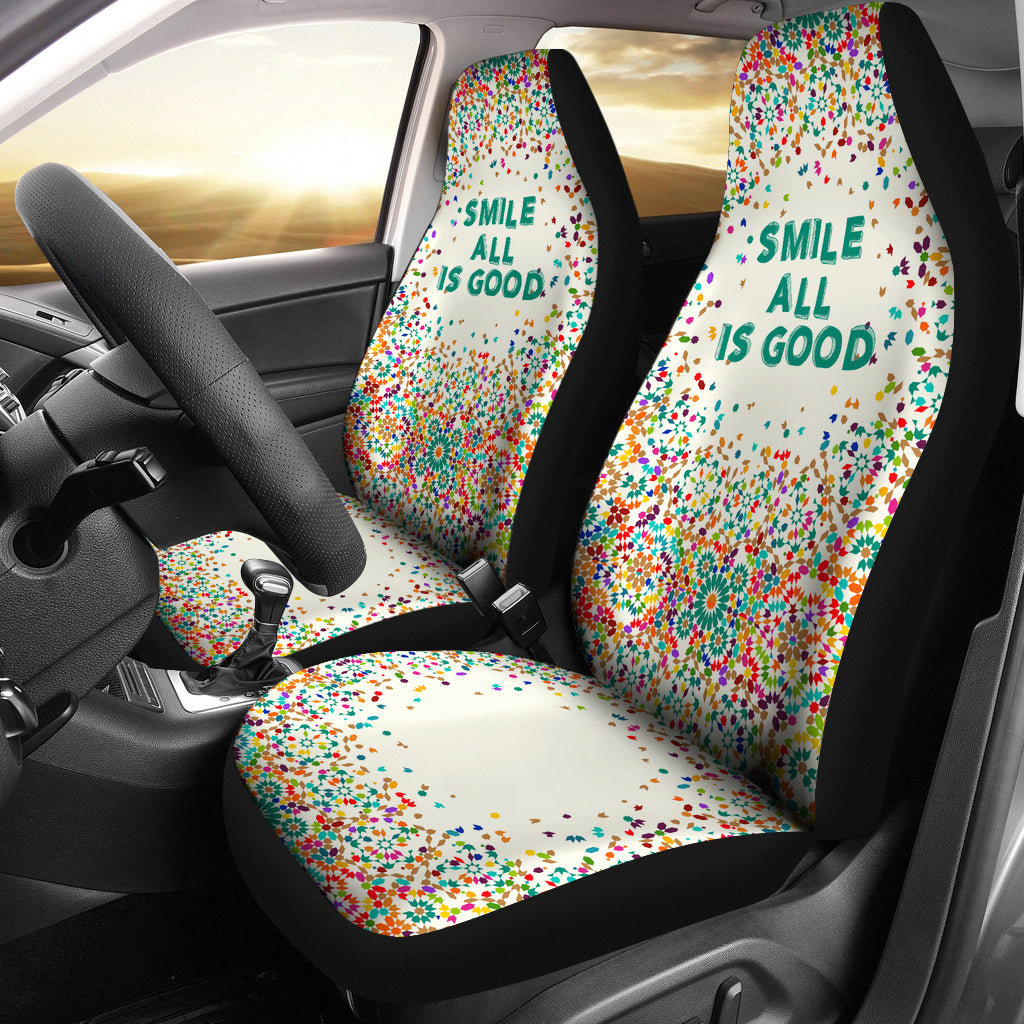 Excellent Choose Happy Car Seat Cover My Cheerful Design Andrewgaddart Wooden Chair Designs For Living Room Andrewgaddartcom