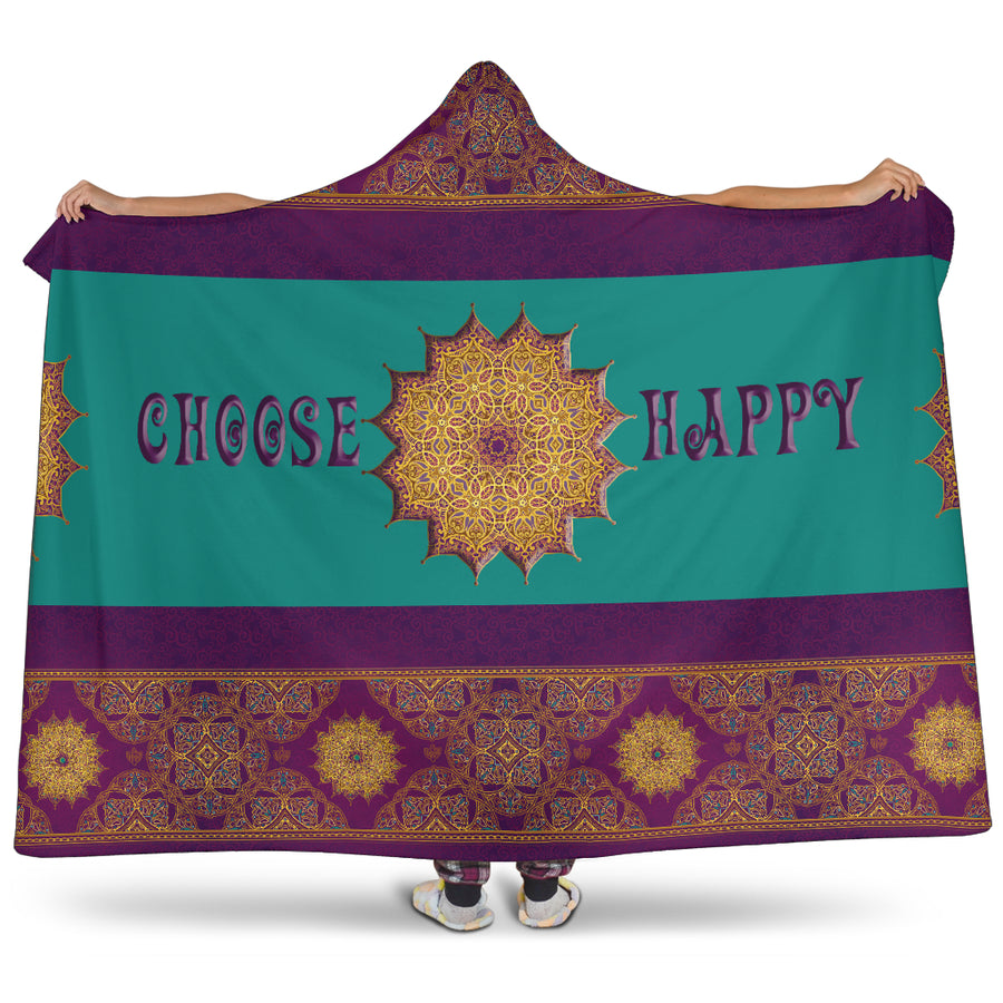 FEELING HAPPY HOODED BLANKET