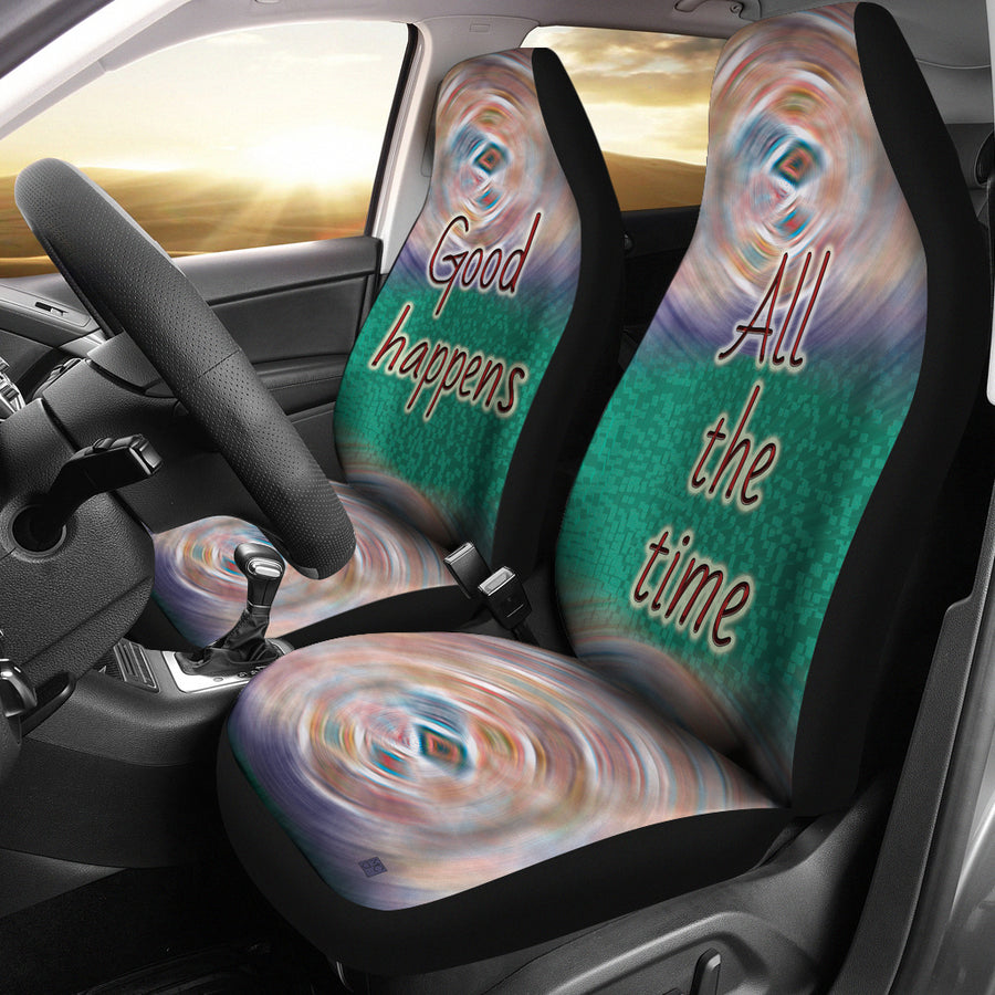 GOOD HAPPENS CAR SEAT COVER