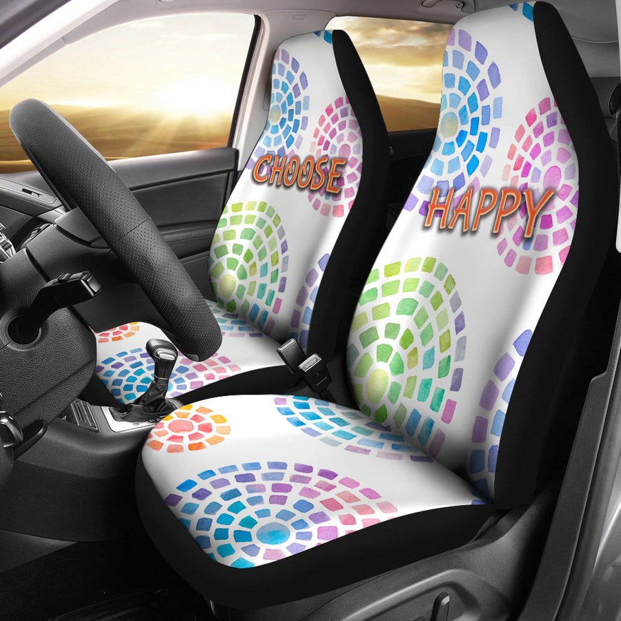 CHOOSE HAPPY CAR SEAT COVER