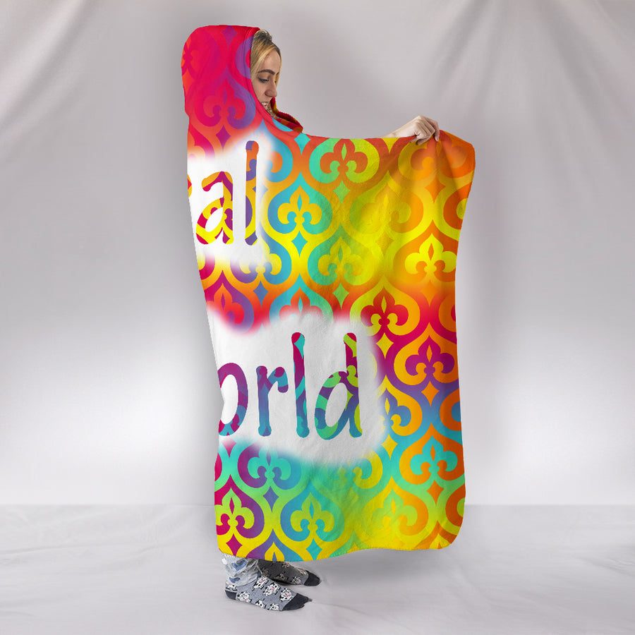 RIZE HEAL THE WORLD HOODED BLANKET