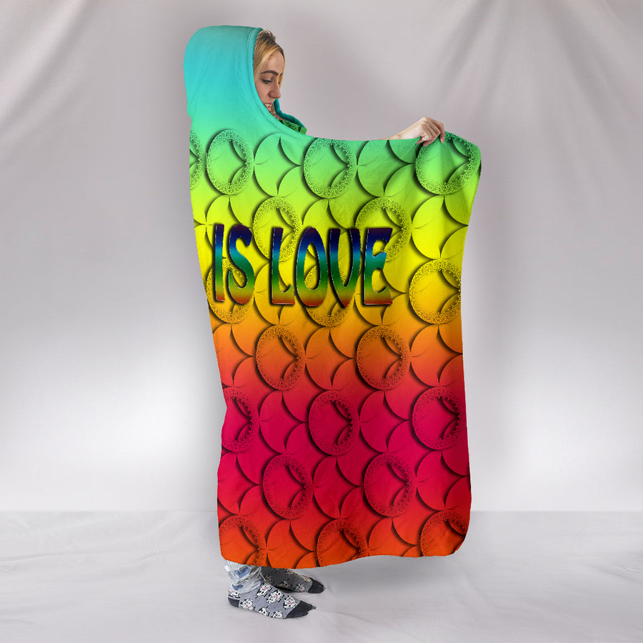 beautiful hooded blanket with amazing colors