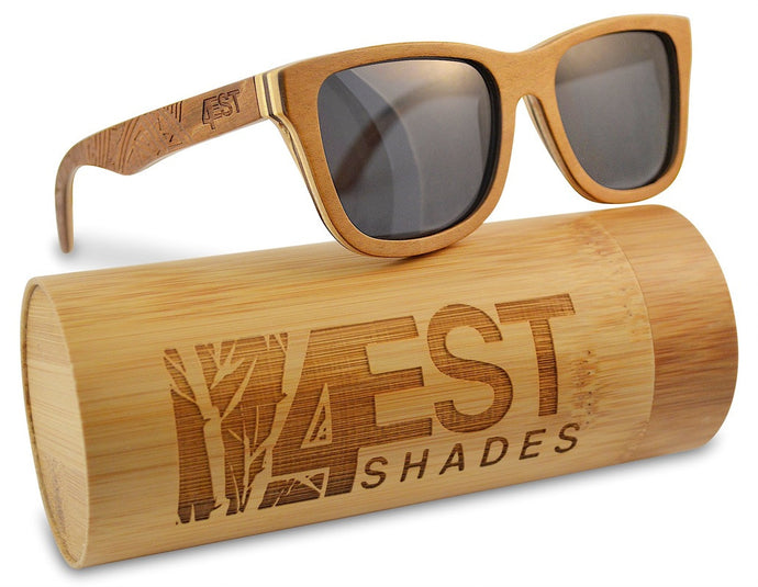 4EST Etched Natural Maple sunglasses (polarised)
