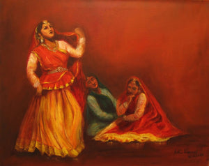 """Kathak Dancers - Gopis searching for Krishna"""