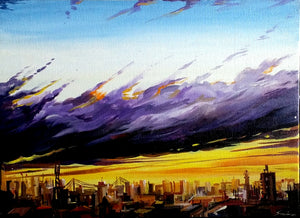 """Cloudy Sunset City"""