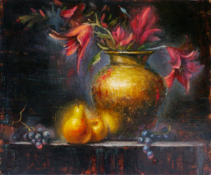 """Still Life with Lilies and Pears"""