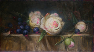 """Still Life with Peonies and Grapes"""