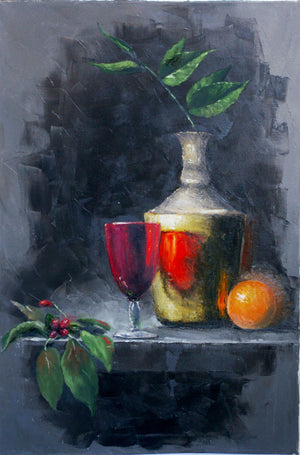 """Still Life with Cherry"""