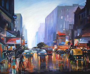 """Rainy City Street"""