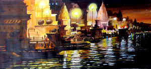 """Night Varanasi Ghats"""