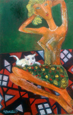 """Girl and Cat"""