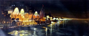 """Varanasi Ghats Night"""