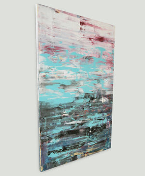 """Brushed Stroke Vertical Turquoise"""
