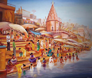 """Morning Varanasi Ghats"""