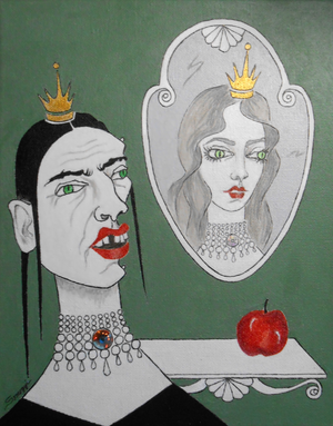 """A Queen, Her Mirror & an Apple"""
