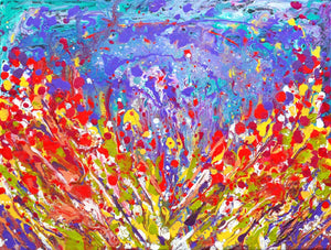 """Poppies Meadow Abstract"""