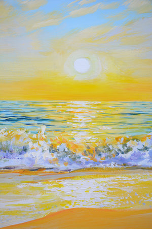 """Affectionate Sunset Over the Ocean"""
