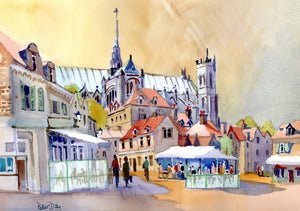 """Amiens Cathedral and Town"""