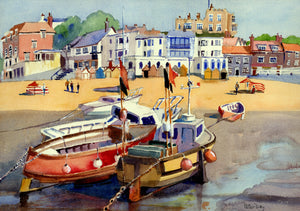 """Broadstairs, Boats at Low Tide"""