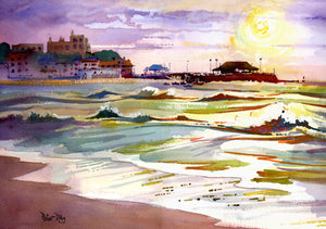 """Windy Morning, Viking Bay, Broadstairs."""