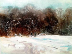 """Snowstorm, Blackford Hill"""
