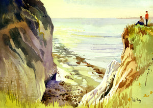 """Devils Drop, Pegwell Bay, Cliffs End Ramsgate, Kent"""
