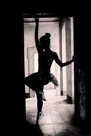 """Diptych - Dancer Silhouette"""