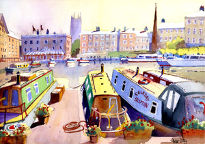 """Narrow Boats, Gloucester Quays"""