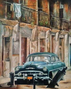 """Blue Car - Old Havana"""