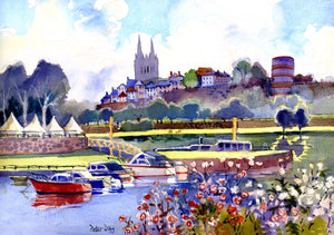 """The Loire at Angers, France"""