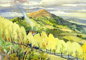 """British Camp from Gardiners Quarry, Malvern Hills"""