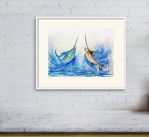 """Marlin and Bill Fish Ocean Fish"""