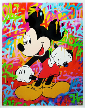 """Mickey Graffiti Writer"""