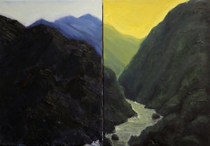 """Mountains"" - Diptych"