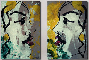 """Profile II"" (Diptych)"