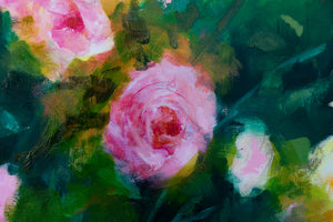"""Pink Roses in the Garden"""