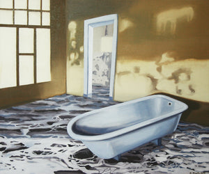 """Seascape in the Bathroom"""