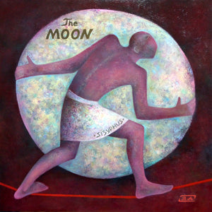 """Sisyphus Pushing the Moon"""