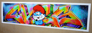 """Smurf Graffiti Writer"""