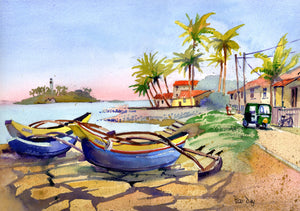 """Fishing Boats, Baruwala, Sri Lanka"""